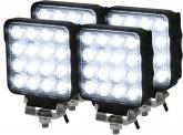 4x AdLuminis LED Arbeitsscheinwerfer T5148 25W OSRAM LED IP69K