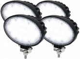 4x Adluminis LED Arbeitsscheinwerfer T3039 39W 60° 3.120 Lumen