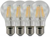 4x AdLuminis LED Fadenlampe E27 Bulb 8W 720 Lumen