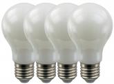 4x AdLuminis SMD LED Bulb A60 matt 6W E27