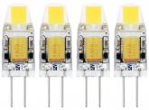 4x AdLuminis LED Stiftsockellampe G4 1W 110 Lumen 2.700K