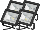 4x Projecteur LED plat 10 Watts 850 Lumens AdLuminis