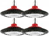 4x AdLuminis LED Hallenstrahler UFO High Bay 50 Watt 3.800 Lumen