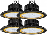 4x Cloche LED UFO high bay 150W 20.500lm dimmable suspension industrielle AdLuminis