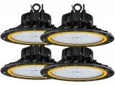 4x AdLuminis LED Hallenstrahler 200W 27.300 Lumen UFO dimmbar