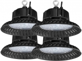 4x AdLuminis LED Hallenstrahler UFO High Bay 50 Watt 4.700 Lumen