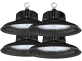 4x AdLuminis LED Hallenstrahler UFO High Bay 100 Watt 9.500 Lumen