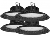 4x AdLuminis LED Hallenstrahler UFO High Bay 150 Watt 15.100 Lumen