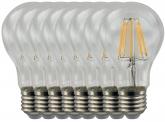 8x AdLuminis LED Fadenlampe E27 Bulb 8W 720 Lumen