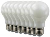 8x AdLuminis SMD LED Bulb A60 matt 6W E27