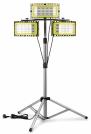 3x AdLuminis LED Baustrahler 50W mit Dreibeinstativ u. Zubehör