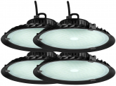 4x AdLuminis LED Hallenstrahler UFO High Bay 100 Watt 9.000 Lumen
