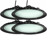 4x AdLuminis LED Hallenstrahler UFO High Bay 150 Watt 13.500 Lumen