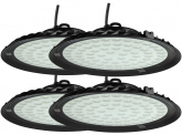 4x AdLuminis LED Hallenstrahler UFO High Bay 50 Watt 4.500 Lumen
