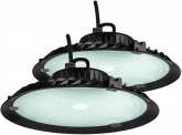 2x AdLuminis LED Hallenstrahler UFO High Bay 100 Watt 9.000 Lumen