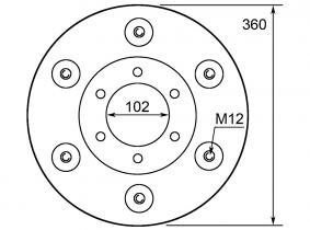 0622 8357 Stützteller zu KM 20, KM 22 Deutz-Fahr 0622 8357 Stützteller zu KM 20, KM 22 Deutz-Fahr