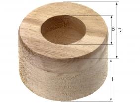 Hartholzlagereinsatz für Walzenkrümler  64,5x40x25mm Hartholzlagereinsatz für Walzenkrümler  64,5x40x25mm