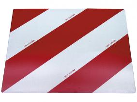 Warntafel (li+re verwenbar) nach DIN 11030, einseitig beklebt, 423x423 Warntafel (li+re) nach DIN 11030, einseitig beklebt, 423x423