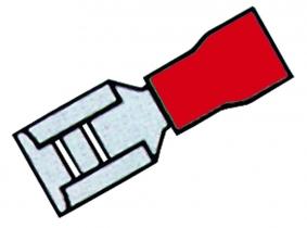 Flachsteckhülse, teilisol., rot, 6,3mm, 0,25-1,0qmm 20 St. Flachsteckhülse, teilisol., rot, 6,3mm, 0,25-1,0qmm 20 St.