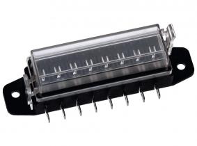 Sicherungskasten für 8 Flachstecksicherungen mit Steckkontakten Sicherungskasten für 8 Flachstecksicherungen mit Steckkontakten