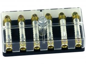 6-fach Sicherungskasten für Rundsicherungen mit Klemmschrauben 6-fach Sicherungskasten für Rundsicherungen mit Klemmschrauben