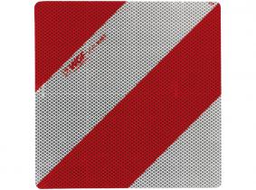 Mini-Warntafel auf Alublech linke Seite, 282x282mm Mini-Warntafel auf Alublech linke Seite, 282x282mm