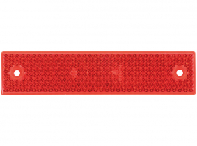 Rückstrahler eckig mit 2 Löchern, lange Ausführung rot Rückstrahler eckig mit 2 Löchern, lange Ausführung rot