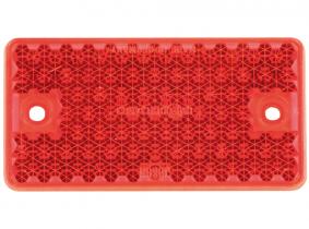 Rückstrahler eckig mit 2 Löchern, kurze Ausführung, rot Rückstrahler eckig mit 2 Löchern, kurze Ausführung, rot