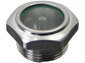 Ölstandschauglas aus Aluminium Ölstandschauglas aus Aluminium