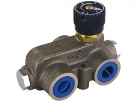 Dreiwegestromverteiler einstellbar 0,8-25l / 50l/min Dreiwegestromverteiler einstellbar 0,8-25l / 50l/min