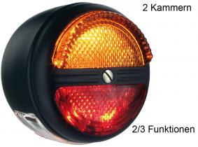 OLDTIMER Schluss-Brems/Blink-Leuchte rund 80x63mm ohne K-Leuchte OLDTIMER Schluss-Brems/Blink-Leuchte rund 80x63mm ohne K-Leuchte