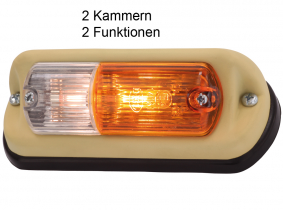 OLDTIMER Blink-Positions-Leuchte für Schrägeinbau links OLDTIMER Blink-Positions-Leuchte für Schrägeinbau links