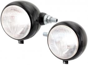 OLDTIMER Scheinwerfersatz (links +rechts) horizontal M18x1,5 Gewinderohr OLDTIMER Scheinwerfersatz (links +rechts) horizontal M18x1,5 Gewinderohr