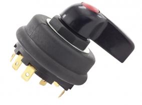 Zweikreis-Blinkerschalter mit Kontrollleuchte -8 Steckerklemmen Zweikreis-Blinkerschalter mit Kontrollleuchte -8 Steckerklemmen