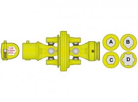 AW21-80° Weitwinkelgelenk für 34,5mm Zitronen-Innenprofil AW21-80° Weitwinkelgelenk für 34,5mm Zitronen-Innenprofil