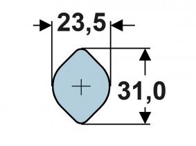 AW10-Zitronen-Innenprofil 23,5 x 3,9mm Vollmaterial (m) AW10-Zitronen-Innenprofil 23,5 x 3,9mm Vollmaterial (m)