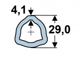 AB2-Dreiecks-Innenprofil 29,0 x 4,1mm (m) AB2-Dreiecks-Innenprofil 29,0 x 4,1mm (m)
