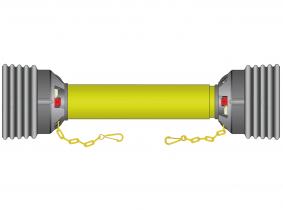 Gelenkwellenschutz Gr.1 - M-M Kreuz 1210mm Gelenkwellenschutz Gr.1 - M-M Kreuz 1210mm
