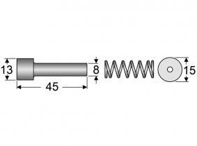 Schiebestift NEUE Ausführung  für (1 3/8'' x 6) Schiebestift NEUE Ausführung  für (1 3/8'' x 6)