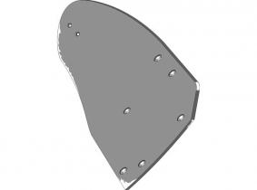 Lemken Streichblech-Hinterteil B40B R - rechts Lemken Streichblech-Hinterteil B40B R - rechts