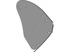 Lemken Streichblech-Hinterteil C40B R - rechts Lemken Streichblech-Hinterteil C40B R - rechts