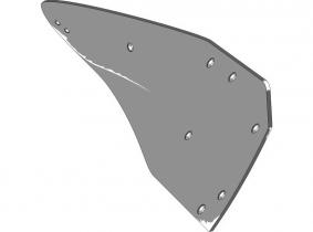 Lemken Streichblech-Hinterteil W52B R - rechts Lemken Streichblech-Hinterteil W52B R - rechts