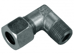 Hydraulik-Winkel-Einschraubverschraubung kon. GAS 1/4 auf L10 Hydraulik-Winkel-Einschraubverschraubung kon. GAS 1/4 auf L10
