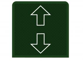 FKS Trailer Einleger für Rocker Schalter Pfeil Auf/Ab grün FKS Trailer Einleger Rocker Schalter Pfeil Auf/Ab grün