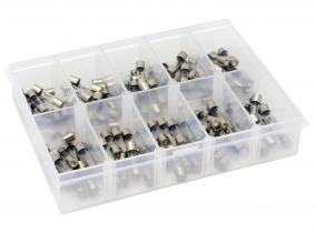 Kfz Glassicherungen (ZME) Sortiment im Kunststoffkasten 100-tlg. Kfz GLassicherungen (ZME) Sortiment im Kunststoffkasten 100-tlg.
