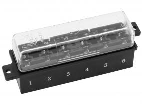 6-fach Sicherungskasten für Flachstecksicherungen 6-fach Sicherungskasten für Flachstecksicherungen