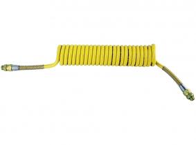 Spiralbremsschlauch aus Polyurethan gelb Außengewinde M16x1,5 Länge 4m Spiralbremsschlauch aus Polyurethan gelb Außengewinde M16x1,5 Länge 4m