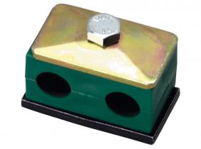 6/6mm , Typ CF1 Doppelrohrschelle aus Kunststoff 6/6mm , Typ CF1 Doppelrohrschelle aus Kunststoff