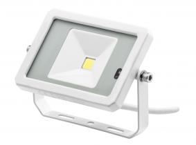 Projecteur LED 10W 800lm blanc avec détecteur de mouvement intégré AdLuminis Projecteur LED 10W 800lm blanc avec détecteur de mouvement intégré AdLuminis