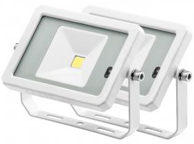 2x Projecteur LED 10W 800lm blanc avec détecteur de mouvement intégré AdLuminis 2x Projecteur LED 10W 800lm blanc avec détecteur de mouvement intégré AdLuminis